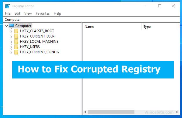 Как исправить поврежденный реестр в Windows 10