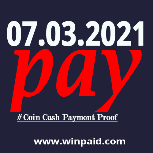 coin cash Payment Proof