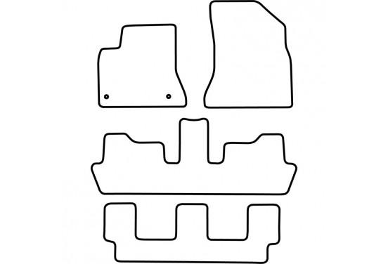 Automatten Citroen C4 Picasso 2007-2012 (7 personen) voor
