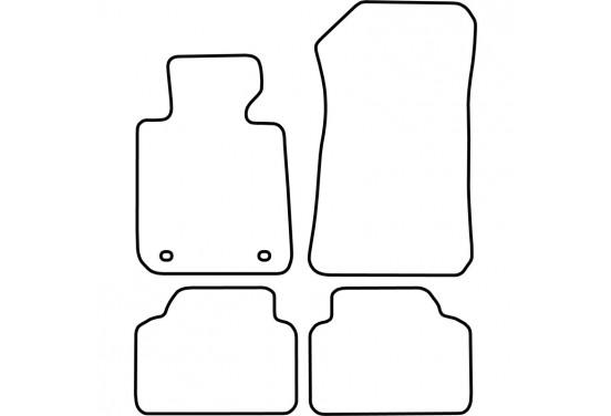 Automatten BMW 3 serie (E90-E91) 2005-2012 (velours) voor
