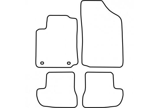 Automatten Citroen C2 2003-2010 voor o.a. CITROEN