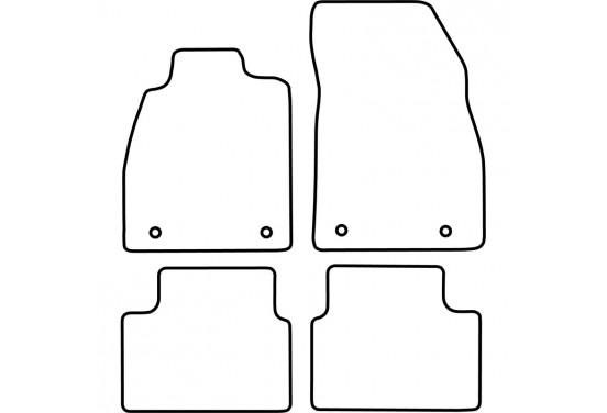 Automatten Opel Insignia 2008-2013 voor o.a. OPEL