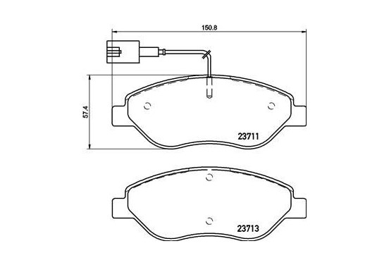 Remblokken set P 23 145 Brembo voor FIAT BRAVO II (198