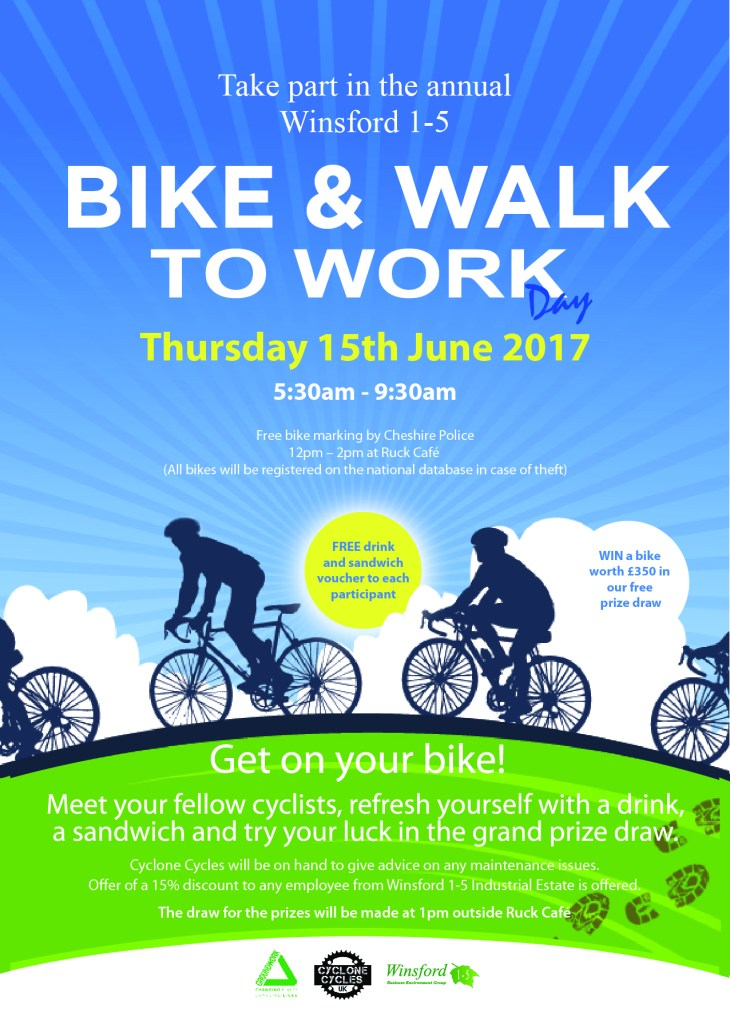 Winsford Bike & walk To Work Poster GW1730-04 V3 Wed 10-05-17 (DB)-01