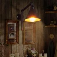 WinSoon 1 Light Vintage Metal Water Pipe Antique Rustic ...