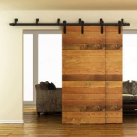 WinSoon 5-16FT Bypass Sliding Barn Door Hardware Double ...