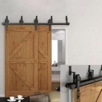 WinSoon 5-16FT Bypass Sliding Barn Door Hardware Double ...