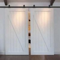 WinSoon 5-18FT Sliding Barn Door Hardware Double Doors ...