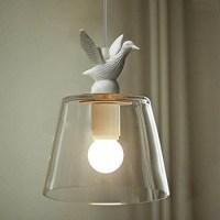WinSoon Industrial Pendant Light Bar Loft Bird Resin Glass