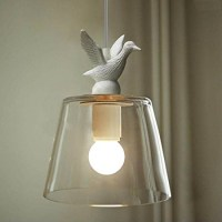 WinSoon Industrial Pendant Light Bar Loft Bird Resin Glass ...