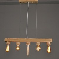 WinSoon Wooden Ceiling Fixture Island Light Pendant Lamp