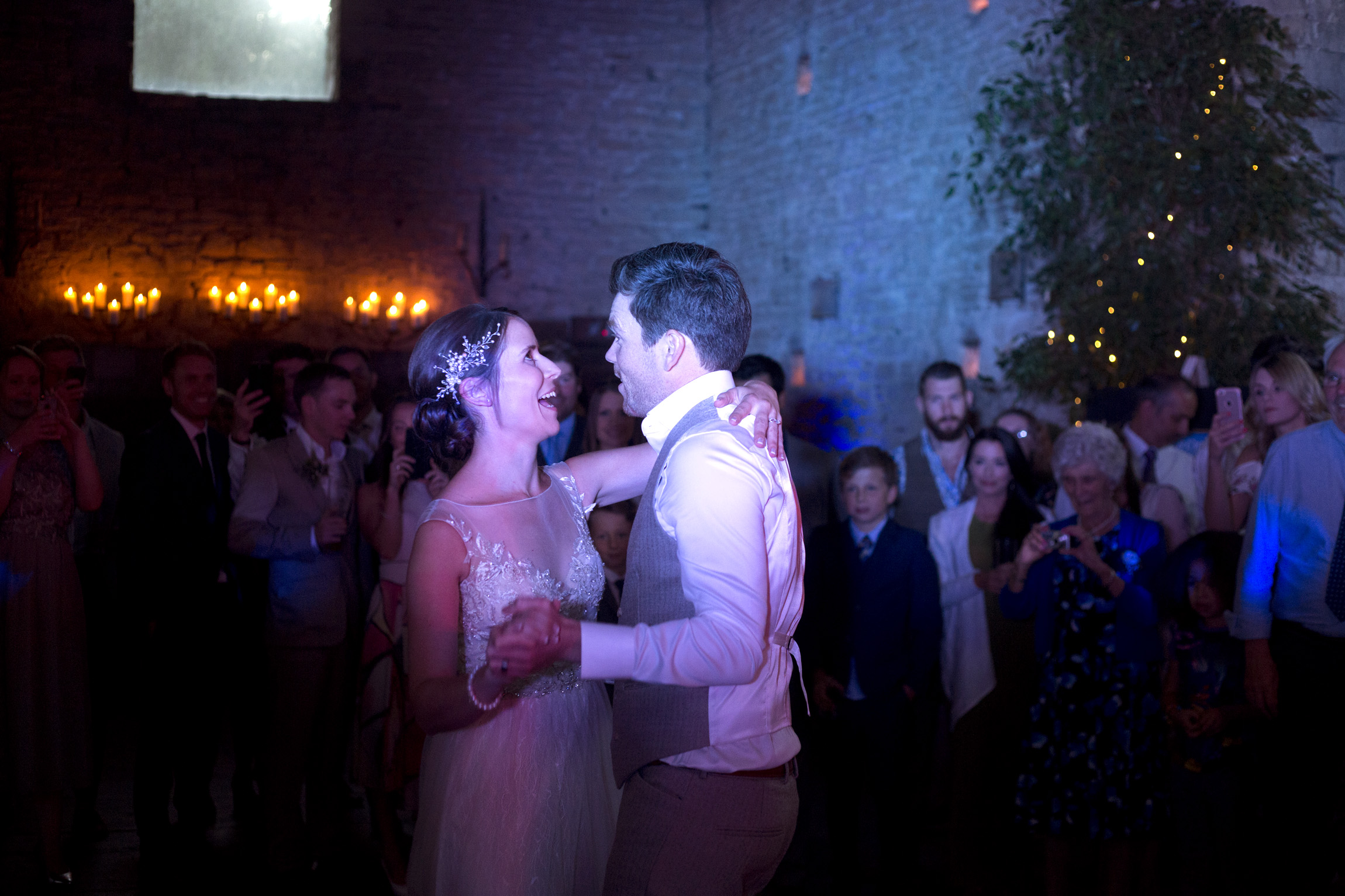 First dance bride and groom portrait shoot in cornfield Cripps barn outdoor wedding photographer