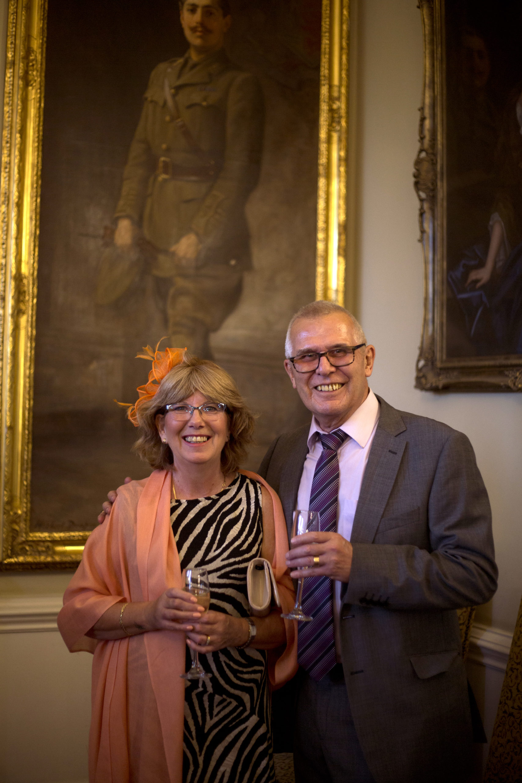 Smiling wedding guests Cardiff Castle Wedding Photographer