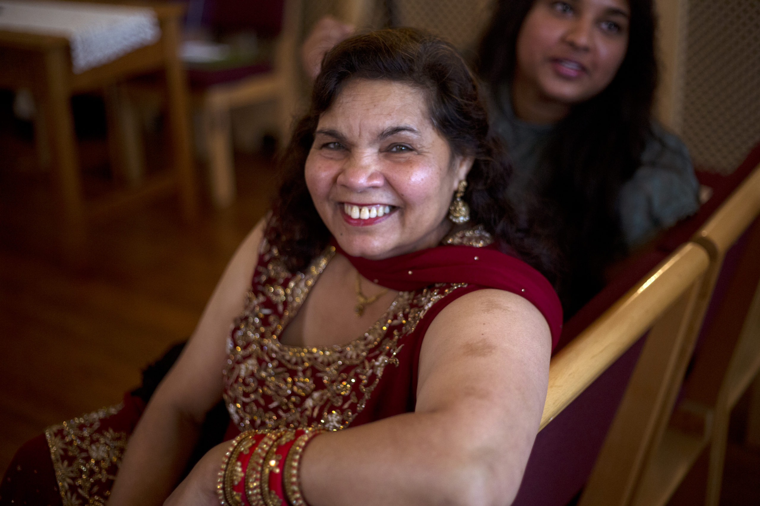 Smiling mother of the groom before the ceremony micro wedding photographer Bristol