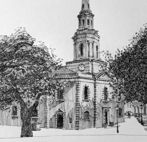St Pauls sketch by W Attwood