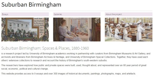 Screen shot of Suburban Birmingham website page