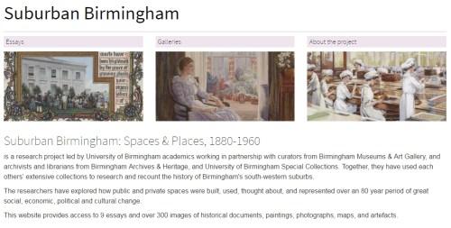 Screen shot of Suburban Birmingham website page