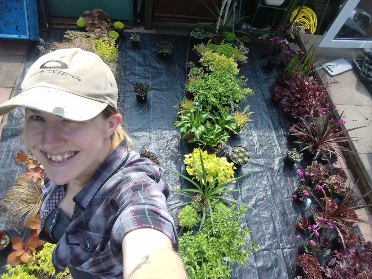 Cath preparing plants for 'Our Space in Space', Cath Fletcher, Winterbourne House and Garden, Digging for Dirt