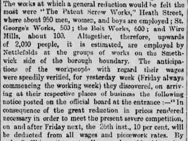 Birmingham Daily Post 27 February 1886 - Workers Affected, The Archivist, Winterbourne House and Garden, Digging for Dirt