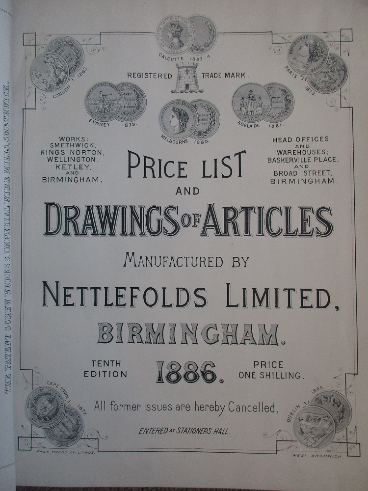 Nettlefolds Price List (1886) in the History Room, The Archivist, Winterbourne House and Garden, Digging for Dirt