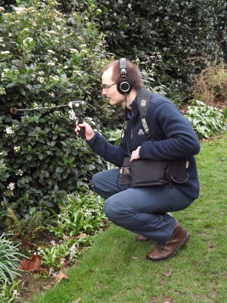 Mark and his 'Bumble-ator' at work in the Winter Garden, The Week That Was, Digging for Dirt, Winterbourne House and Garden