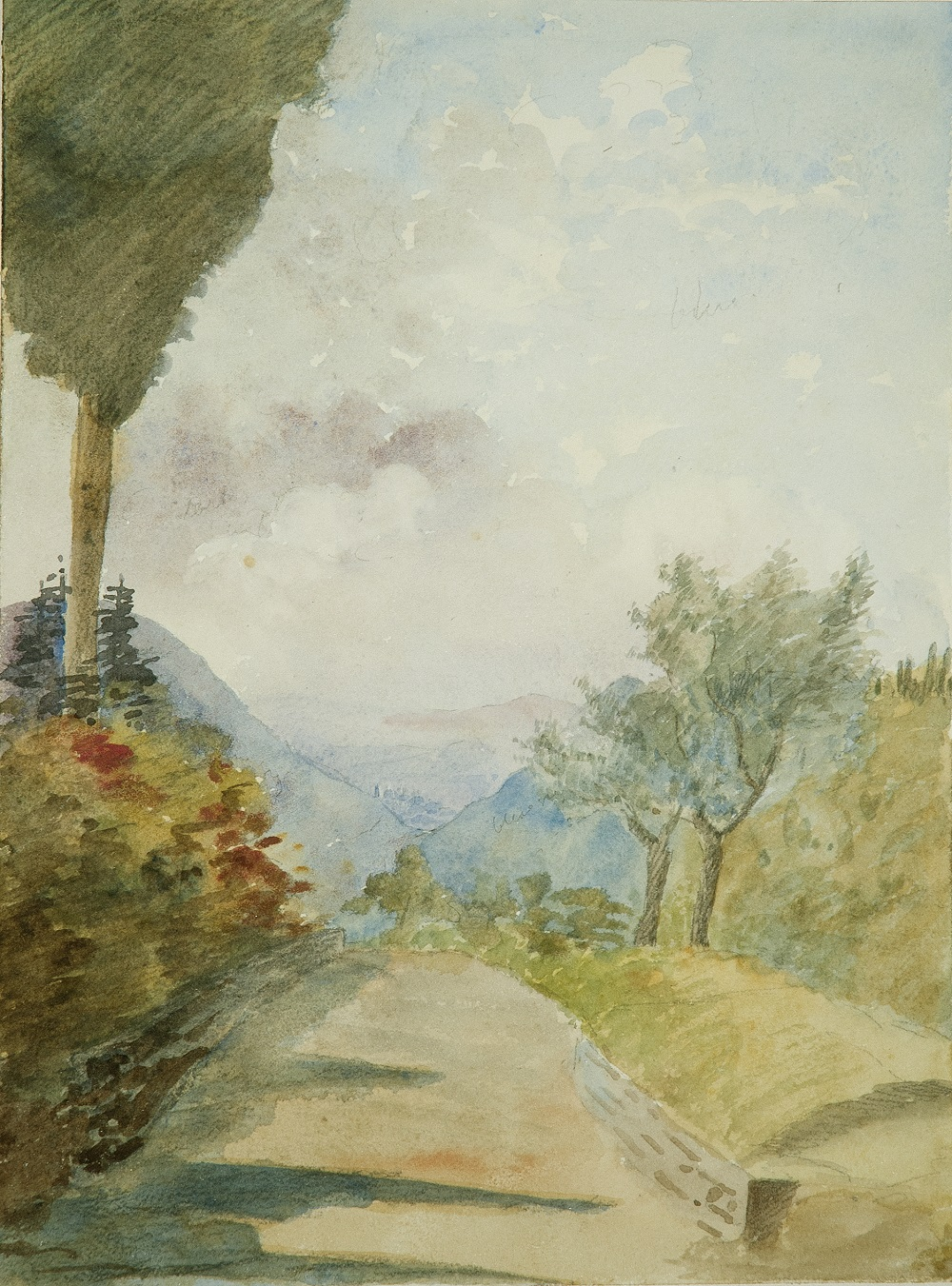 Painting of a view of Florence by Margaret, 1907, News from the Archives, Digging for Dirt, Winterbourne House and Garden