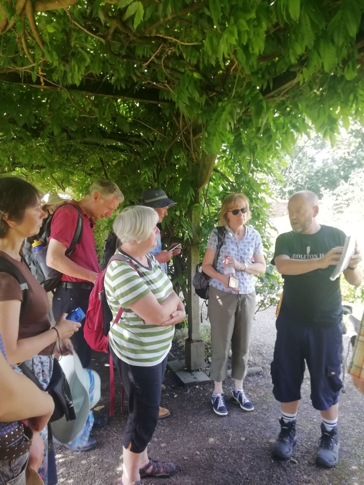 Paul leads a tour of Winterbourne staff and volunteers, Middleton Hall and Gardens, photograph by Leighanne Gee, The Week That Was, Digging for Dirt, Winterbourne House and Garden