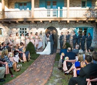 Outdoor ceremony at Casa Feliz