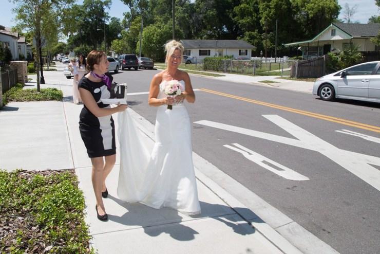 Suzanne in wedding coordination mode