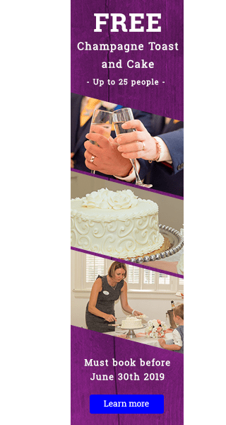 Free Wedding Cake and Champagne offer