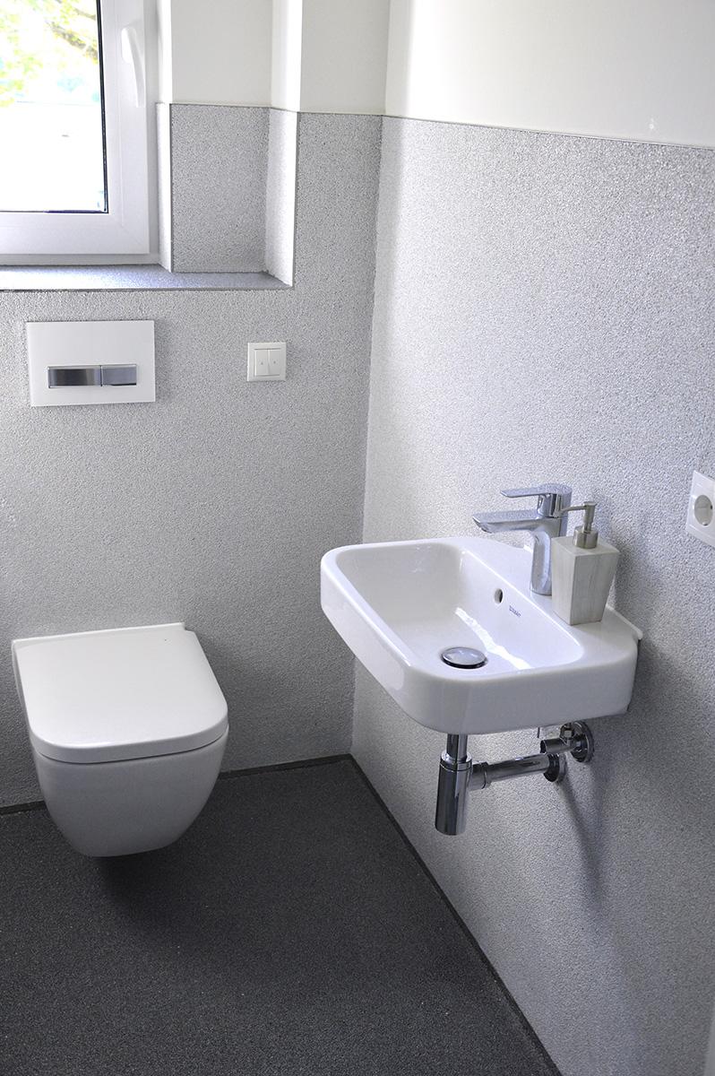 Lithol Steinteppich im Badezimmer