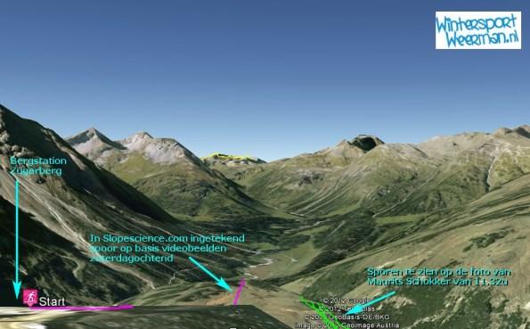 Sporen op foto versus analyse slopescience