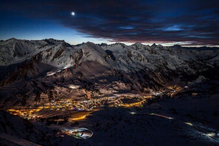 prachtig avondbeeld uit Obertauern