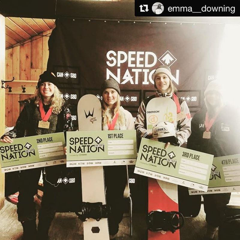 Besides our world class free-ride and powder boards, we also make super fast Custom SBX and Banked SL boards too! @emma__downing with @get_repost・・・Stoked to grab my first NorAm win! A big congrats to @_tinataylor_ on her 🥇yesterday and to @liviamolodyh on 2x🥈 • •  @wintersticksnowboards  @girosnow  @sugarloafmountain  @northernoutdoorsmaine