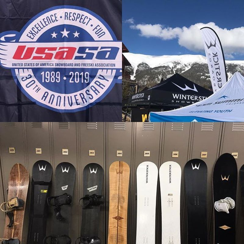 What a great start to the week! If you haven't been following all the action @usasasnow Nationals hit their link now. We are doing #demos all week here @coppermtn so please come by our booth to test a board and say hello to @sethwescott Tuesday and Wednesday. ..#snowboarding #customsnowboard #madeintheusa #superfast