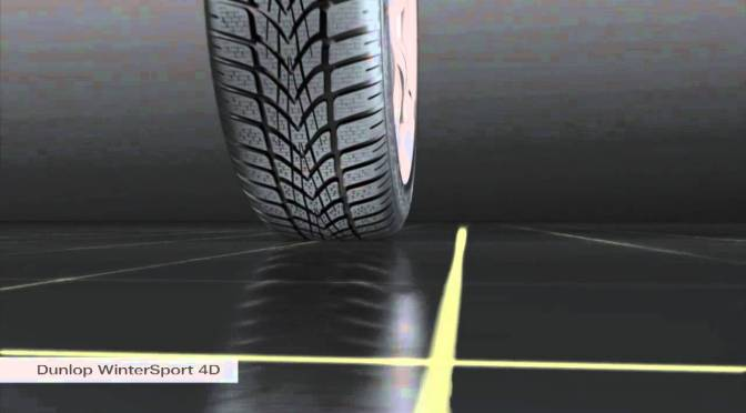 How winter tyres work? A look at the Dunlop Sports 4D winter tyre