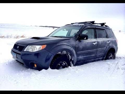 Subaru Forester XT-General Grabber Tyres- in Deep Snow (Grabber AT2) – from a Dash Cam Video