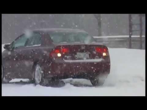 Honda Civic Winter Tyres-Having fun in snow on General Altimax Arctic winter tyres