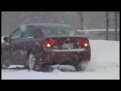 Honda Civic Winter Tyres-Having fun in snow on General Altimax Arctic winter tyres