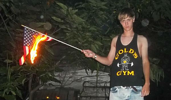 Dylan-Roof-Burns-A-Flag