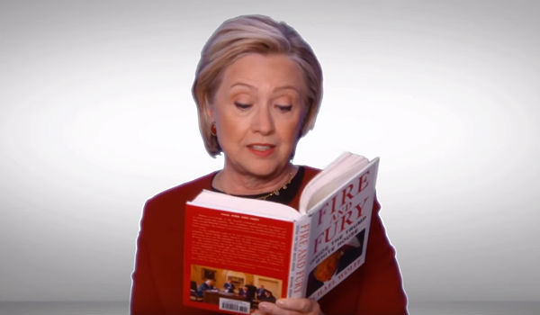 Hillary Fire and Fury Grammys 2018