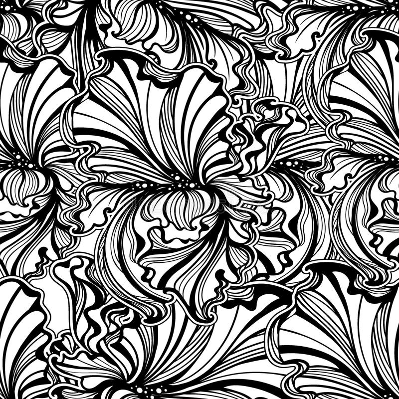 art-nouveau-flowers-leaves-vintage background