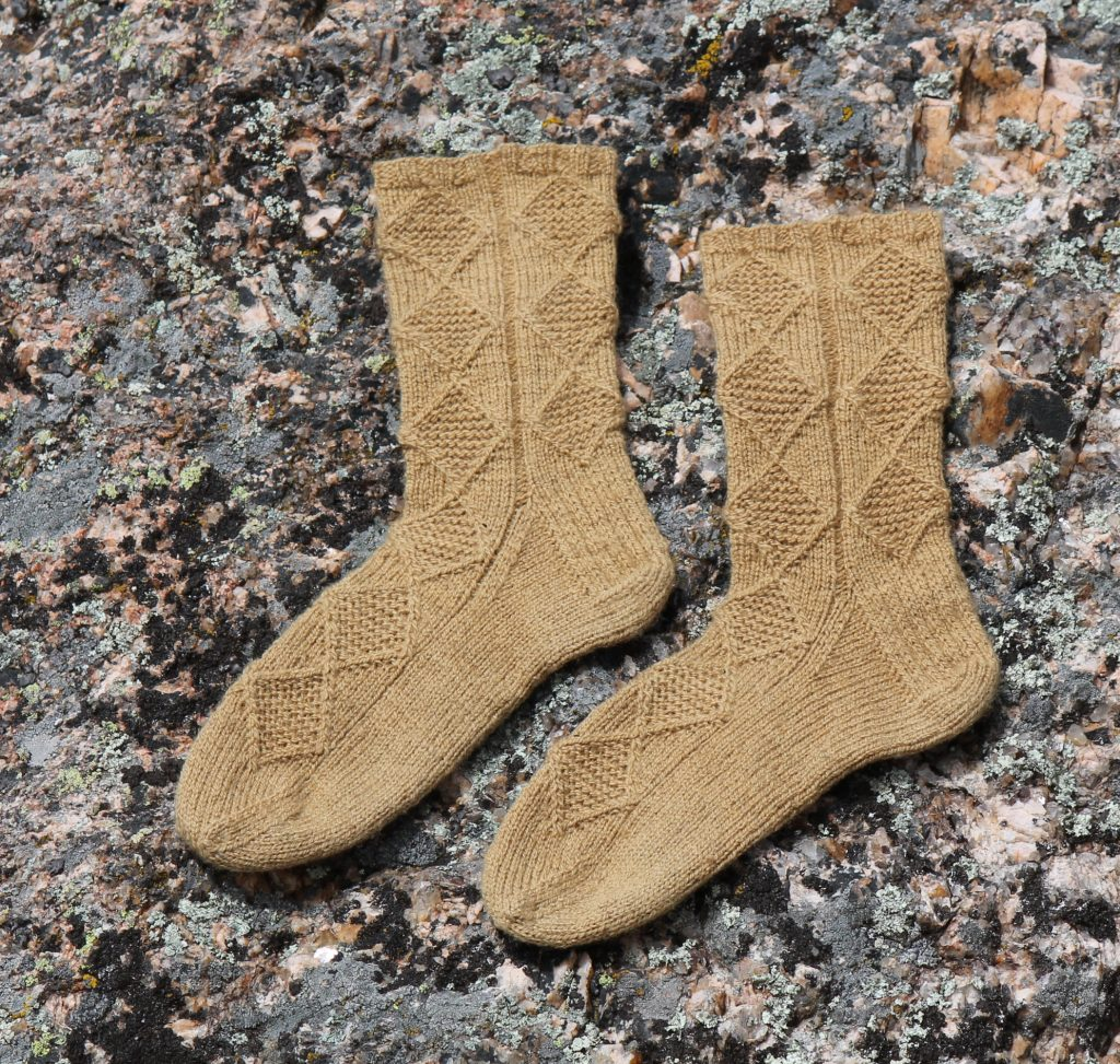 cathedral spires hand knit sock pattern