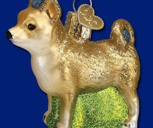 Chihuahua Old World Glass Dog Ornament
