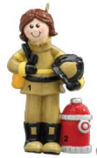 Firefighter Woman Ornament