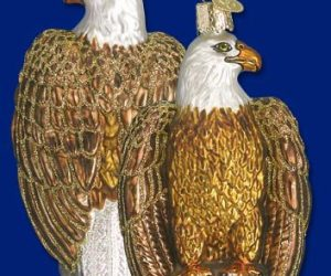 Bald Eagle Old World Glass Ornament
