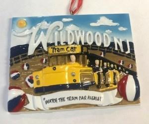 """Watch the Tram Car Please"" Wildwood Boardwalk Ornament"