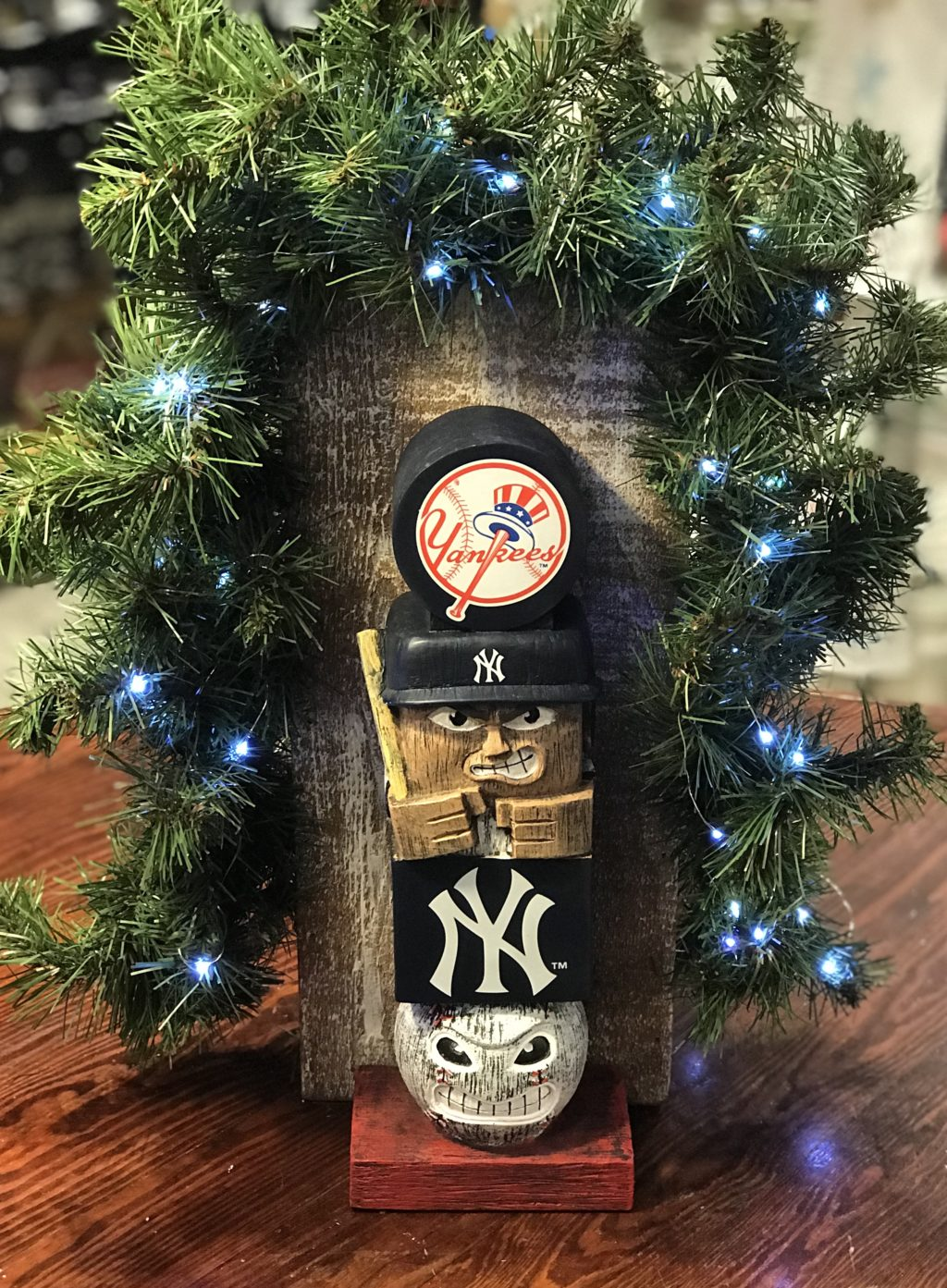 New York Yankee Christmas Ornaments