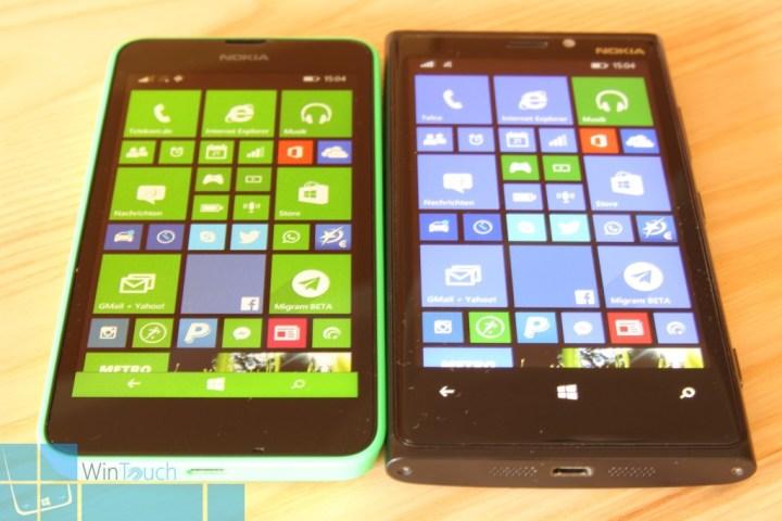 Nokia Lumia 630 Vergleich