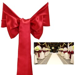 Chair Covers And Sashes For Sale Hair Dryer Salon Chairs 25pcs Wedding Decoration Satin Cover Bow Sash Many